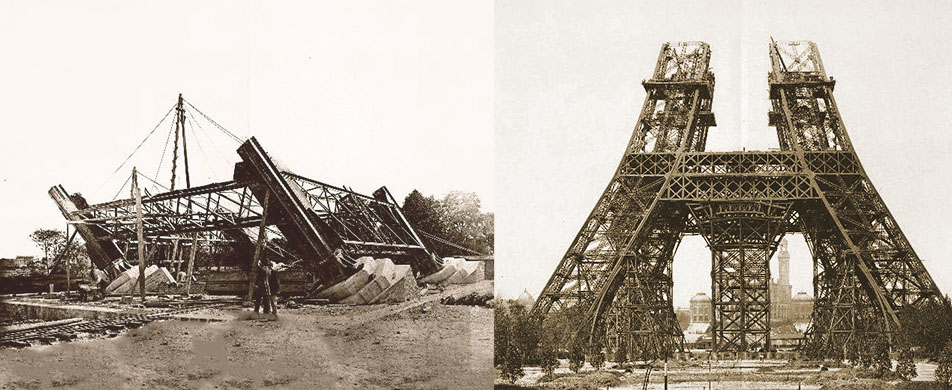 Fondations tour Eiffel Construction