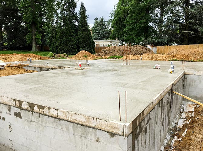 Construction entre Versailles et Paris premier plancher