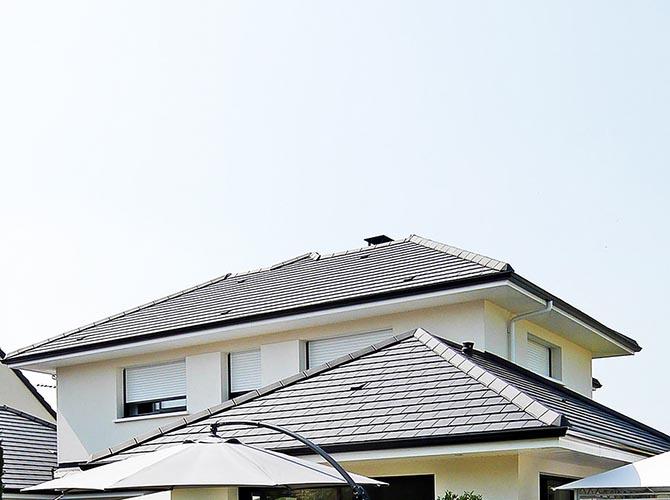 Maison design Saclay la ligne de toit. Essonne