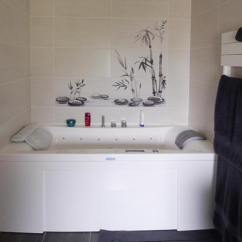 belle baignoire décorée
