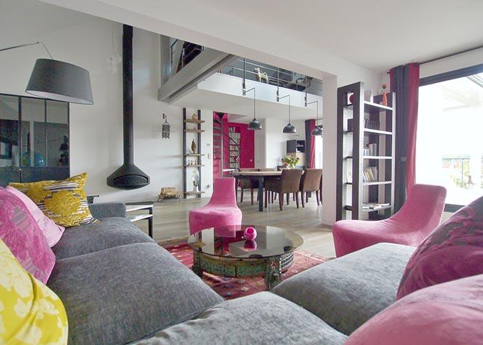 Salon aux couleurs chatoyantes