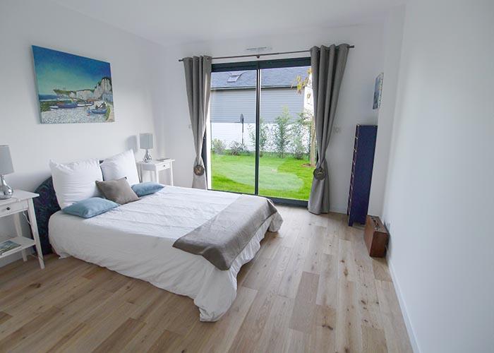 Chambre sur le jardin ambiance marine