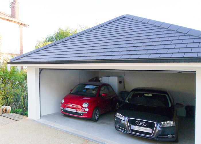 Garage pour deux voitures