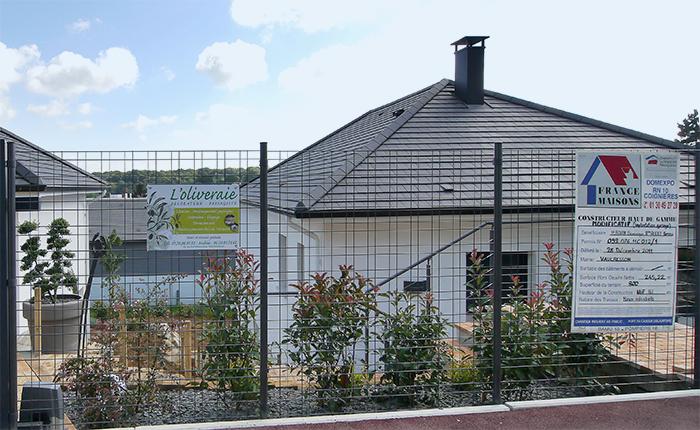 France-maison-idf panneau de chantier ancien