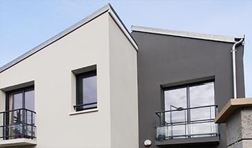 maison de ville design Nanterre pignons asymétriques