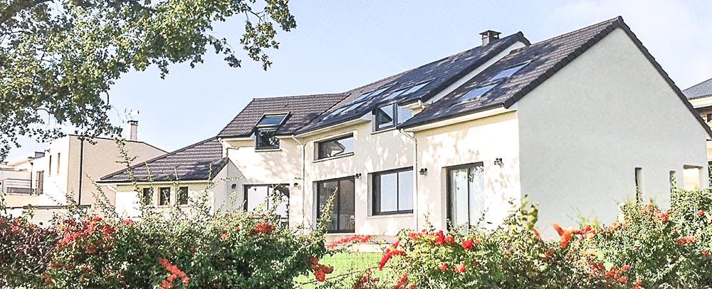 Maison bioclimatique design Verrières-le-Buisson Essonne