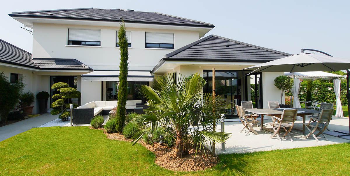 Maison contemporaine, design à l'Italienne, Plateau de Saclay, Essonne