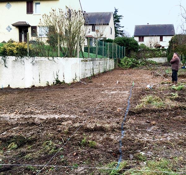 Les Clayes sous bois Yvelines Maison moderne Le terrain avant terrassement