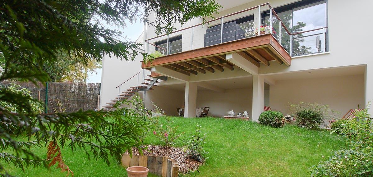 Maison moderne design contemporain dedans dehors Sèvres Hauts de Seine