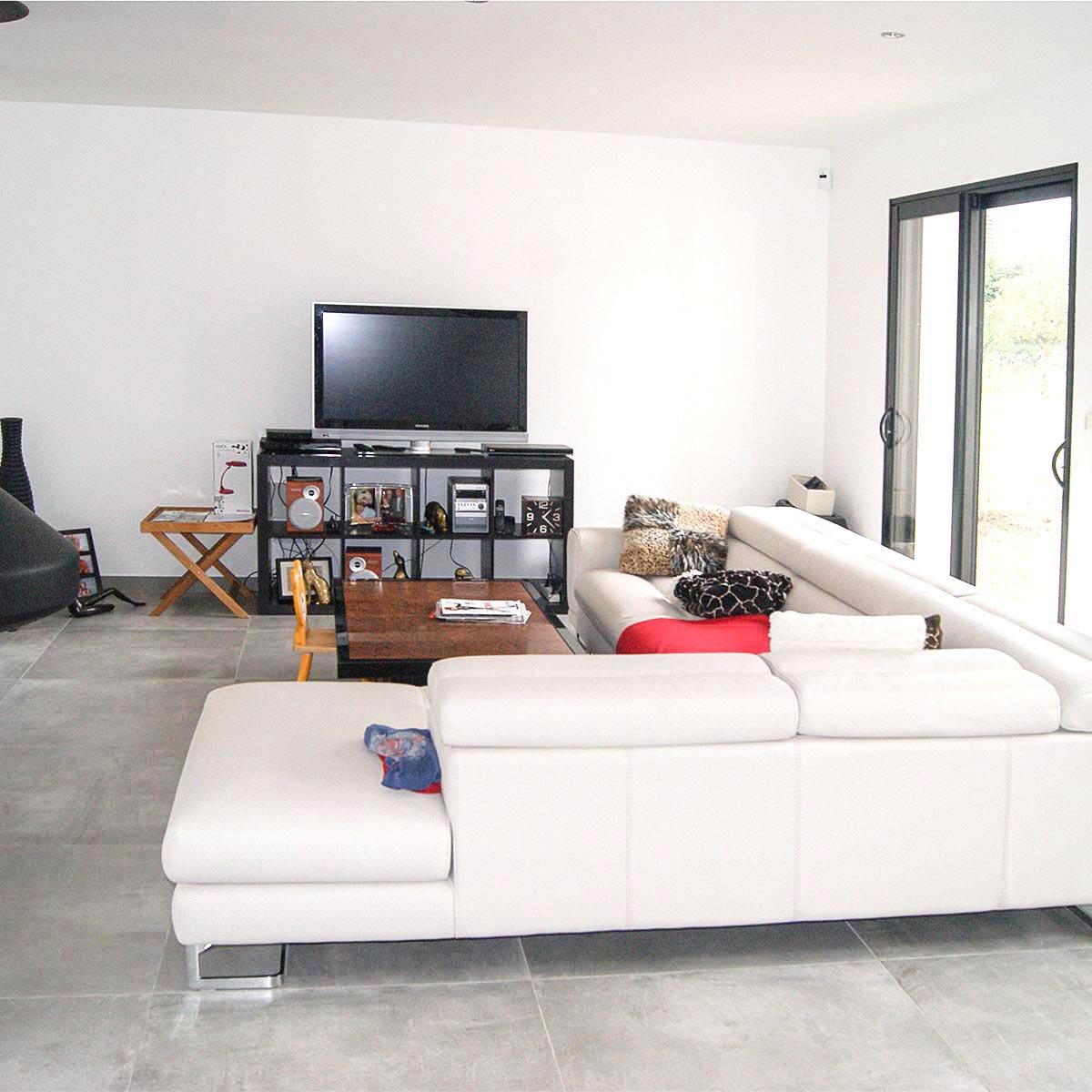 Canape et télé au salon