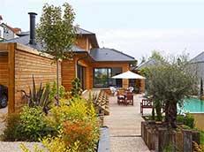 maison bois piscine France-Maisons-idf Constructeur