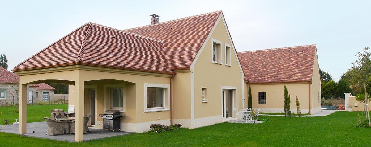 Maison bioclimatique écologique contemporaine en Yvelines