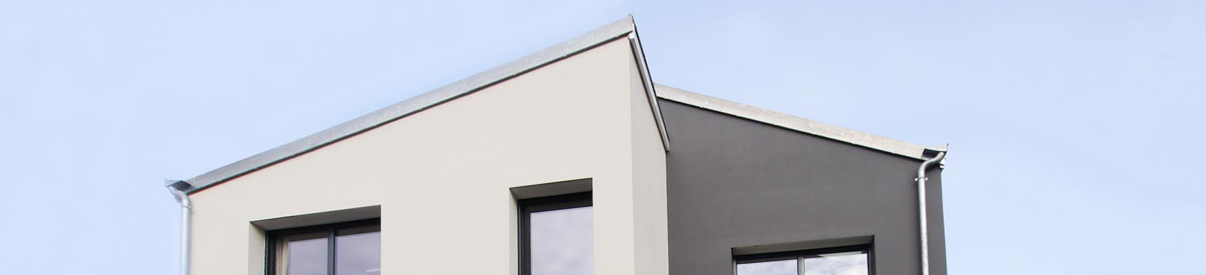 Maison de ville asymétrique design Nanterre FranceMaisons-idf constructeur