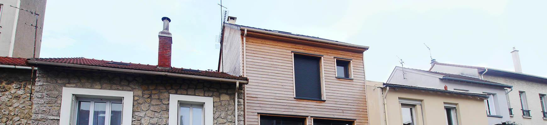 Maison de ville en bois dans une zone dense. Malakoff. France-Maisons.idf
